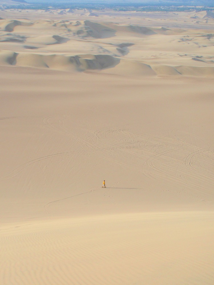 sand dunes in Huacachina Peru
