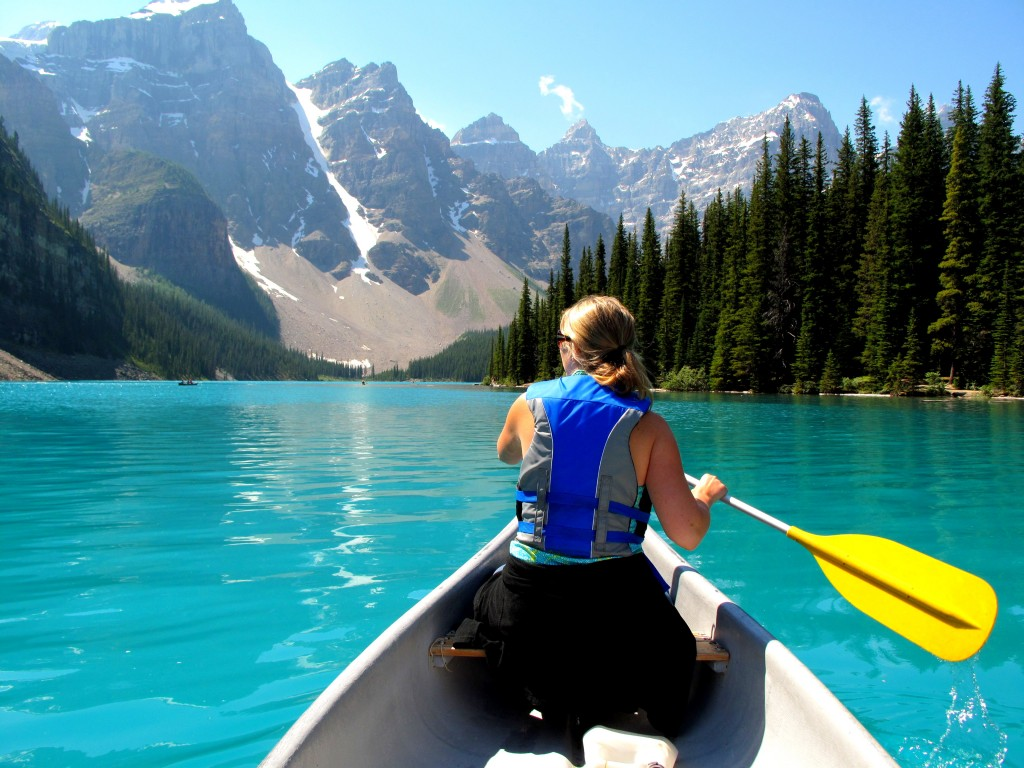 Canoe at Moraine Lake
