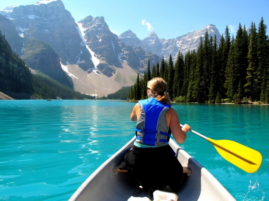 Canoe at Moraine Lake