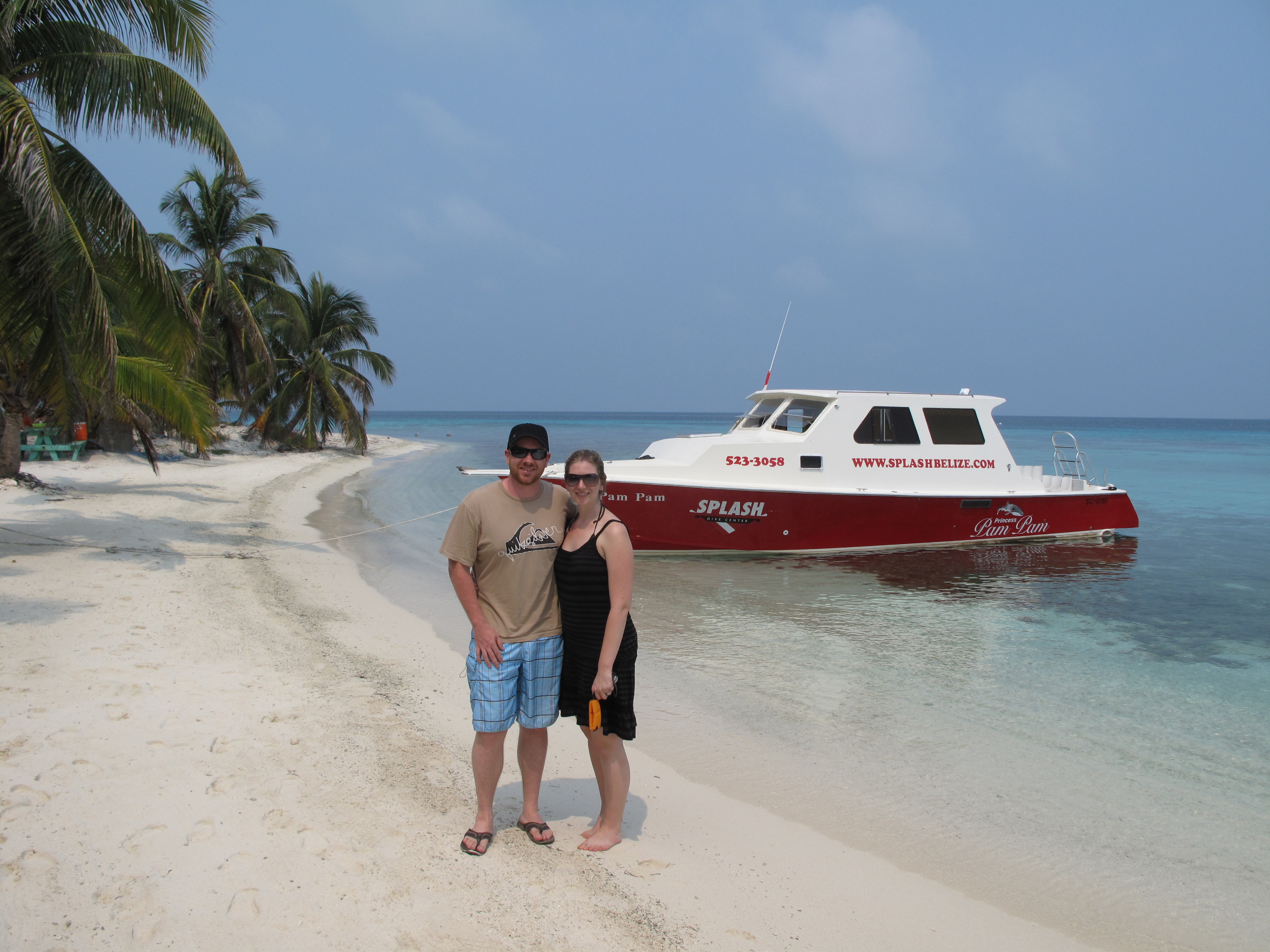 Our Private Island for the Day in the Belize Barrier Reef
