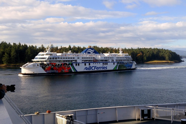 photo of BC Ferries big ship crossing from Vancouver to Victoria