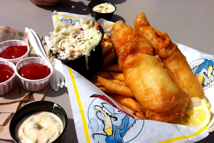 Barbs fish and chips, Fisherman's Wharf Victoria, British Columbia, Canada