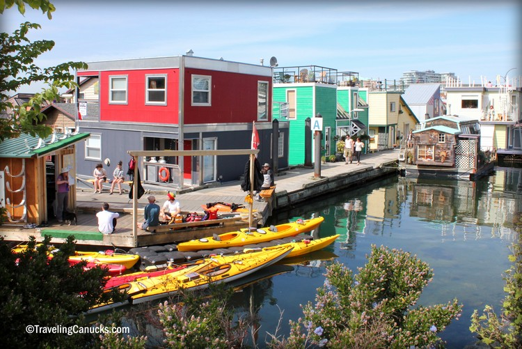 floating homes at Fisherman's Wharf Victoria BC