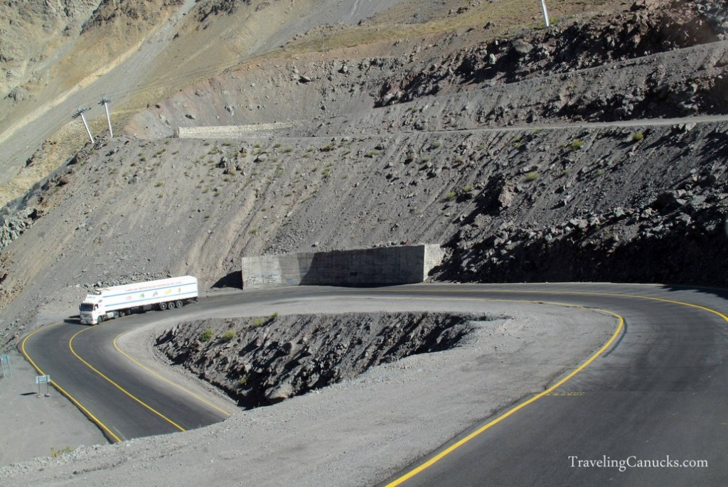 Mountain Highway from Chile to Argentina, South America