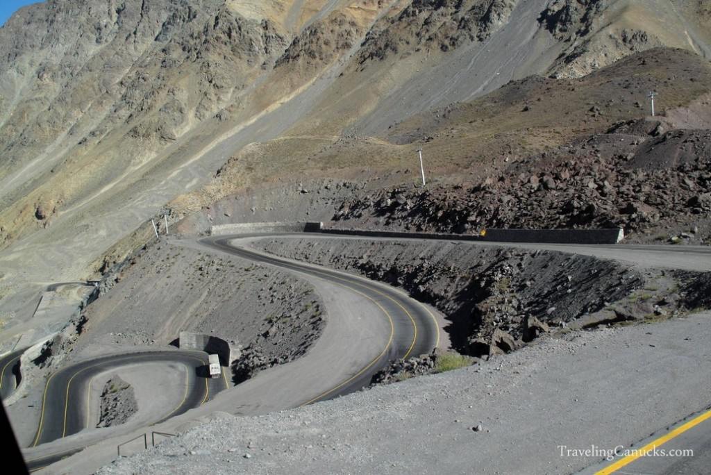 Mountain Pass from Argentina to Chile