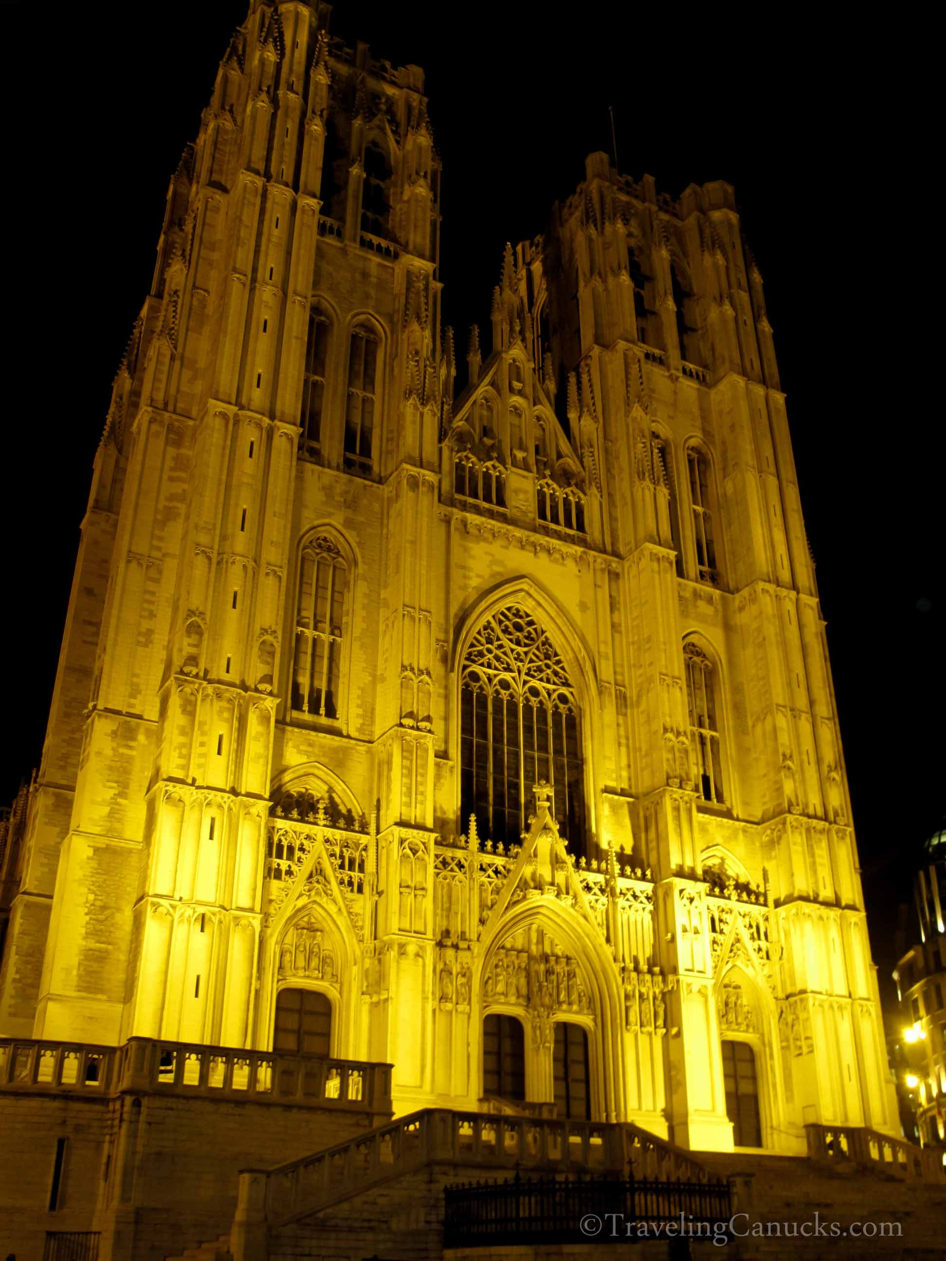 Photo of the Week: Illumindated Cathedral in Brussels