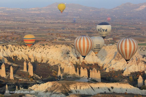 Floating high above Cappadocia in a Hot Air Balloon