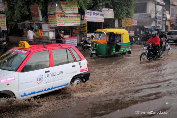 Flood, Jaipur, Rajasthan, India