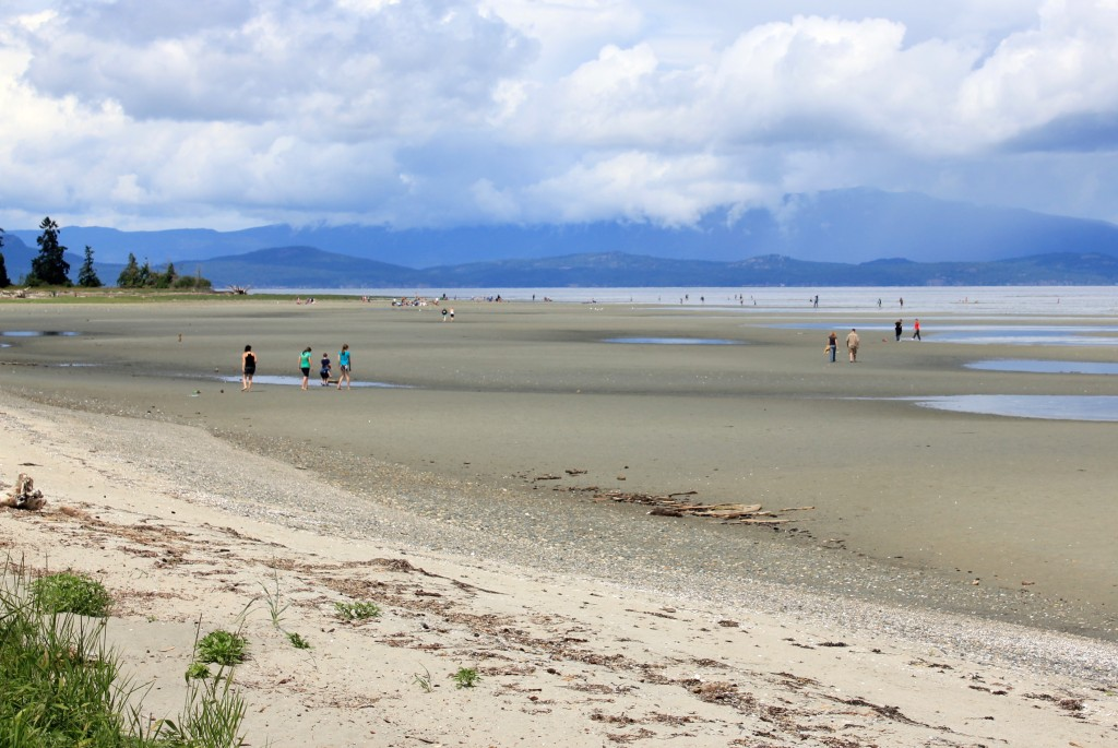 Low tide beach at Parksville British Columbia