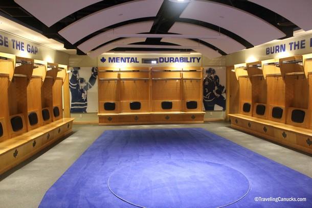 Toronto Maple Leafs Locker Room