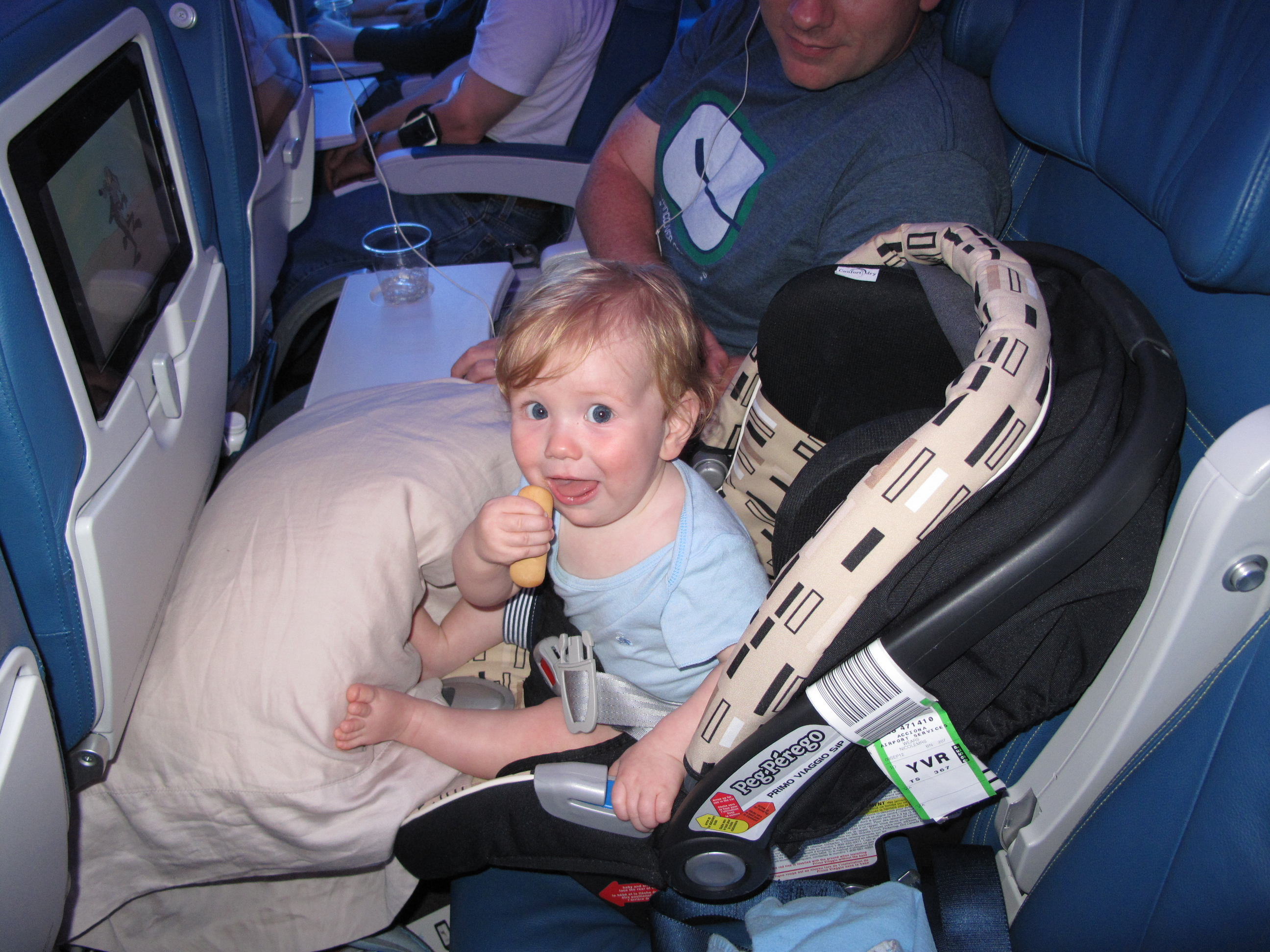 It's ain't always pretty: Our flight from hell with Baby B