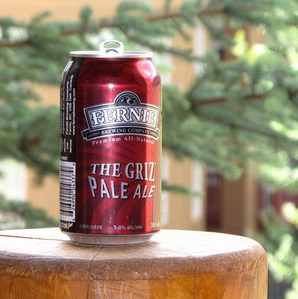 the griz pale ale, fernie brewing