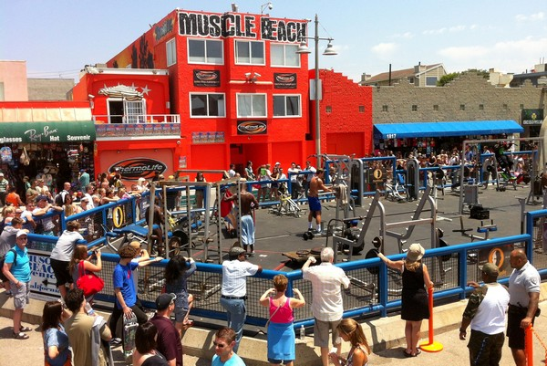 Muscle Beach Venice On The Los Angeles Coast