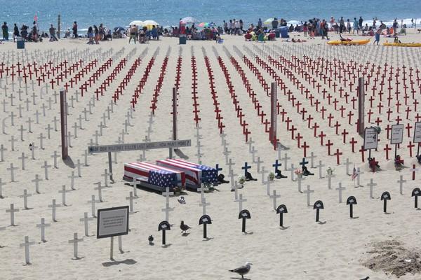 Santa Monica pier, cemetery, california