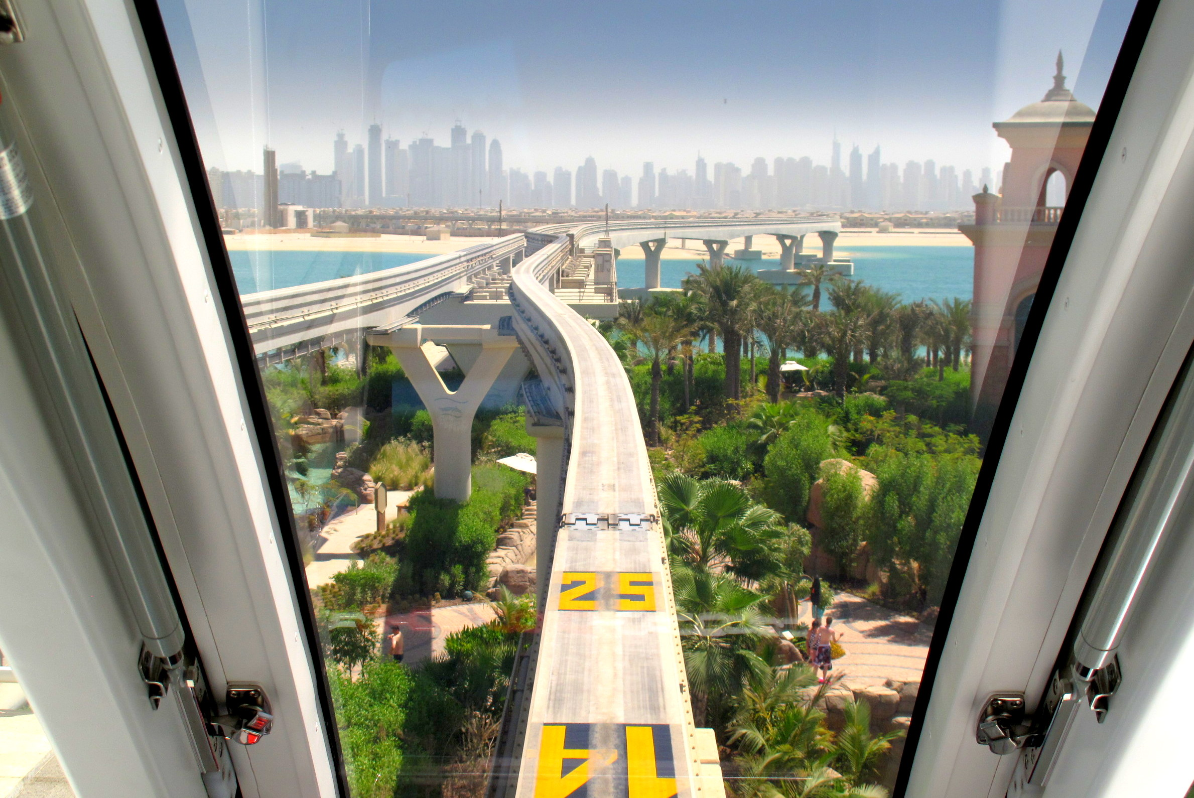 Photo of the Week: Dubai Skyline from the Palm Monorail