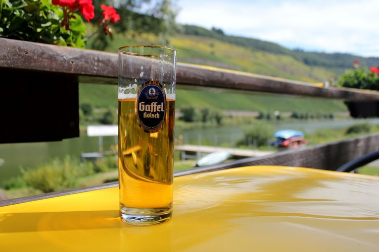 Gaffel Kolsch Beer Mosel River Valley germany