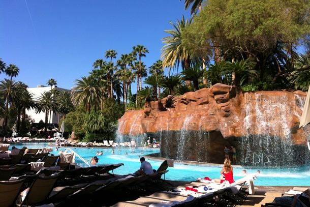 Pool at the Mirage Hotel, Las Vegas