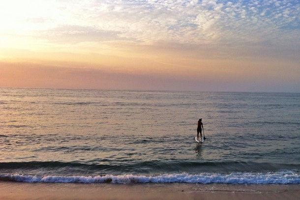 Stand-up paddle boarding in Sayulita Mexico