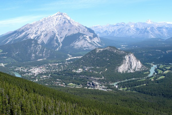 Banff Town, Sulphur Mountain, Alberta