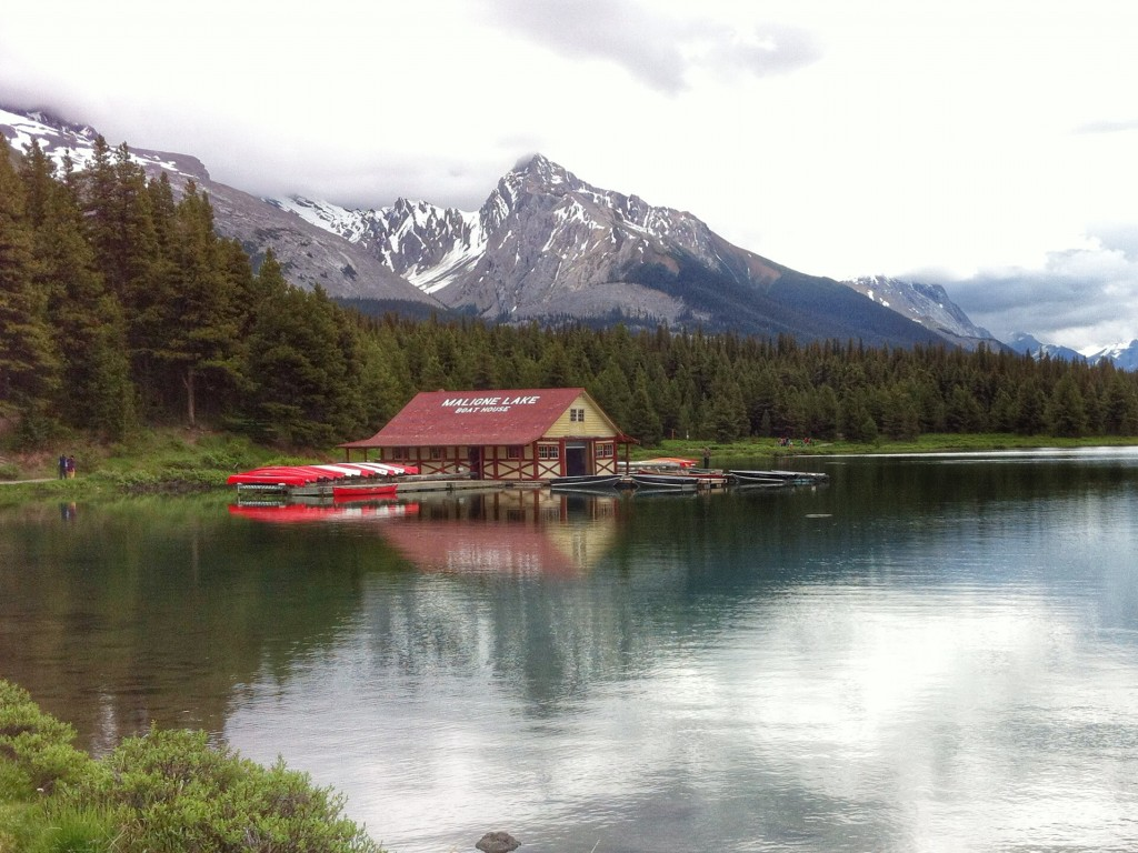 Boathouse, Maligne Lake, Jasper National Park