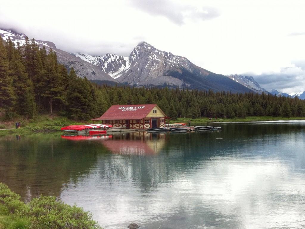 Boathouse, Maligne Lake, Jasper National Park