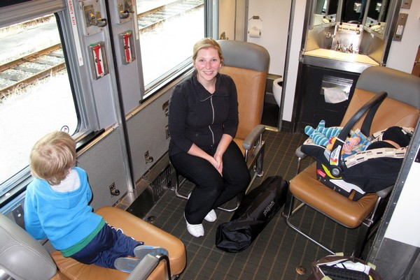 family travel on VIA RAIL, Canada