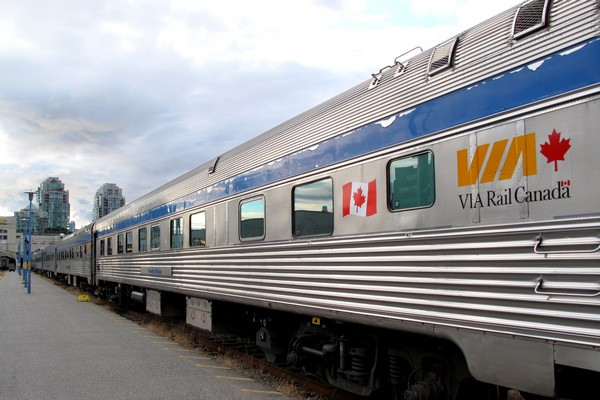 overnight train from Vancouver to Jasper VIA Rail