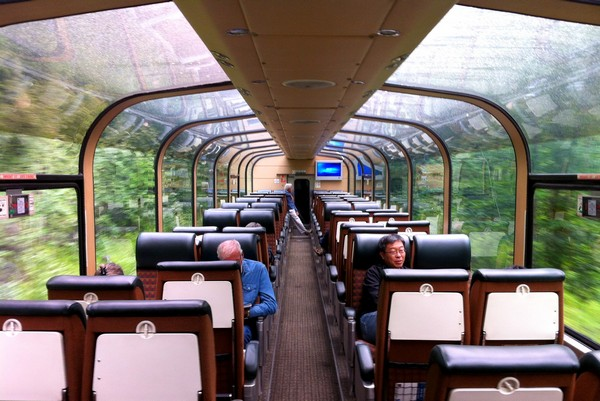 Observation car on the VIA Rail train