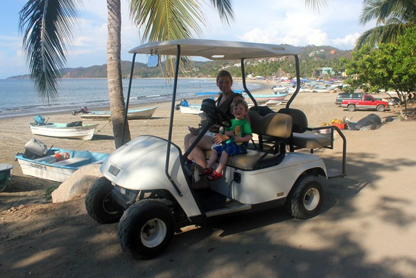 Golf cart, Sayulita, Mexico