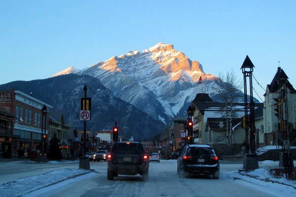 Winter in Banff Town, Alberta