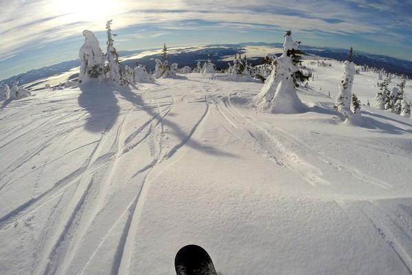 Snowboarding, Big White Ski Resort, British Columbia