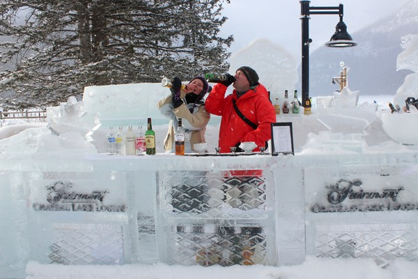 Ice Bar, Chateau Lake Louise, Alberta
