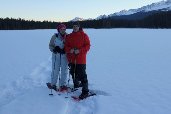 Winter in Banff, Snowshoe hike