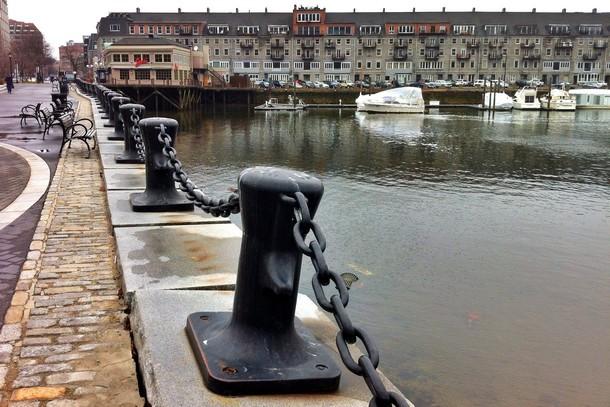 Boston harbor front