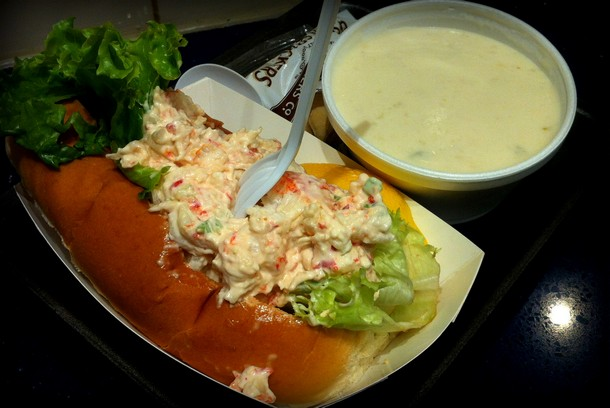 Boston Clam Chowder and Lobster Roll