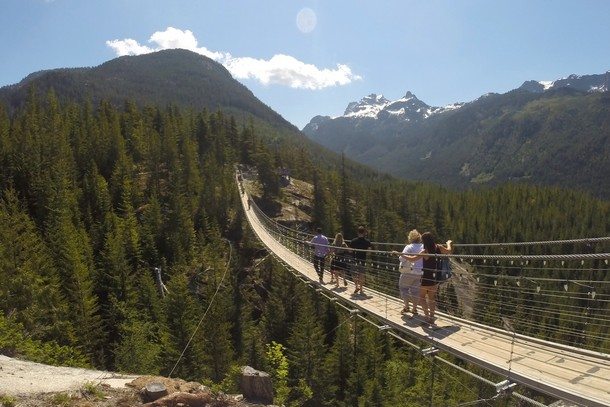 Suspension Bridge, Sea to Sky Summit, Squamish, BC