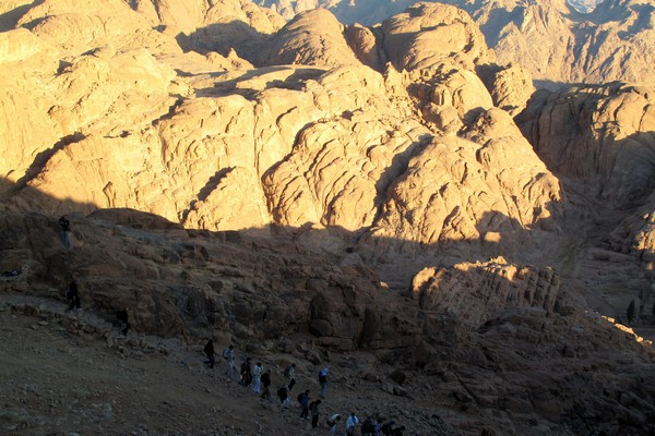 A night trek to the summit of Mount Sinai, Egypt