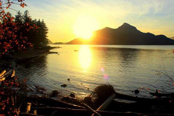 Sunset, Porteau Cove, British Columbia