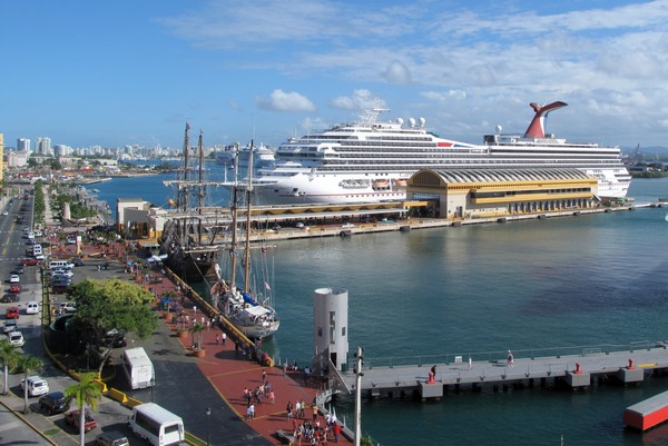 Carnival Cruise ship terminal, Old San Juan, Puerto Rico