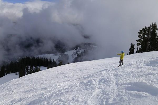 Snowboarding, Mount Baker, Washington