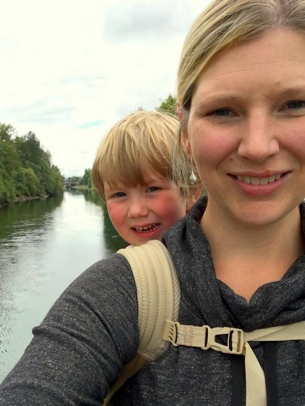 Mommy and Braydon hiking, Comox Valley, British Columbia, #ExploreBCbyBus