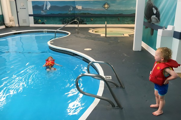 Swimming Pool at the Best Western Courtaney, Comox Valley, British Columbia, #ExploreBCbyBus