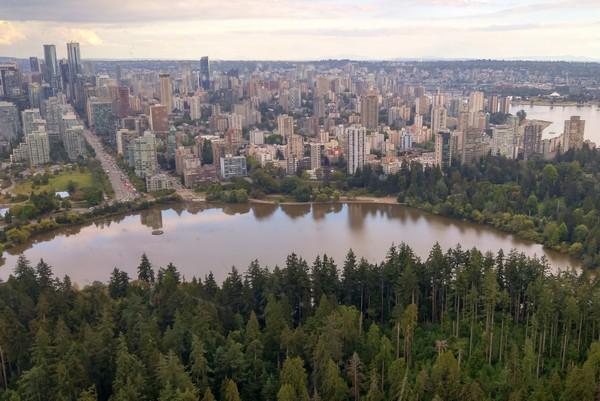 Seaplane flight in British Columbia, Vancouver, Stanley Park