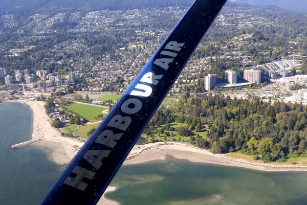 Seaplane flight in British Columbia, West Vancouver