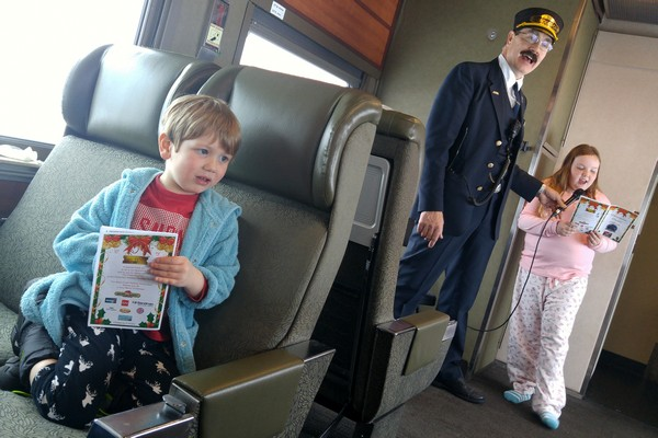 Polar Express in Squamish train conductor