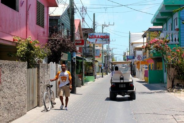 streets, golf cart, ambergris caye, belize