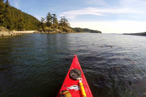 Kayaking, South Pender Island, Gulf Islands, British Columbia, Canada