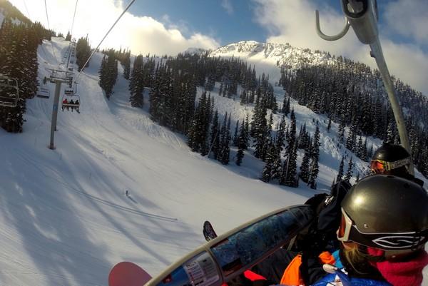 Snowboaring, Whistler Mountain, British Columbia, Canada