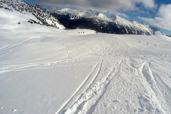 Snowboaring, Whistler Mountain, British Columbia, Canada
