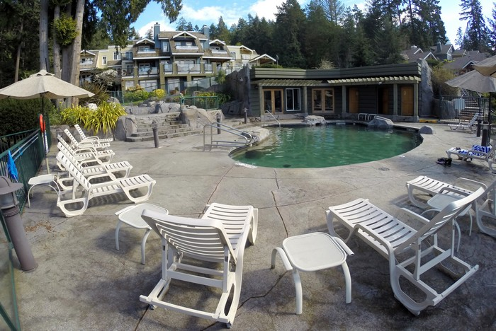 Pool at Poets Cove Resort, South Pender Island, British Columbia, Canada